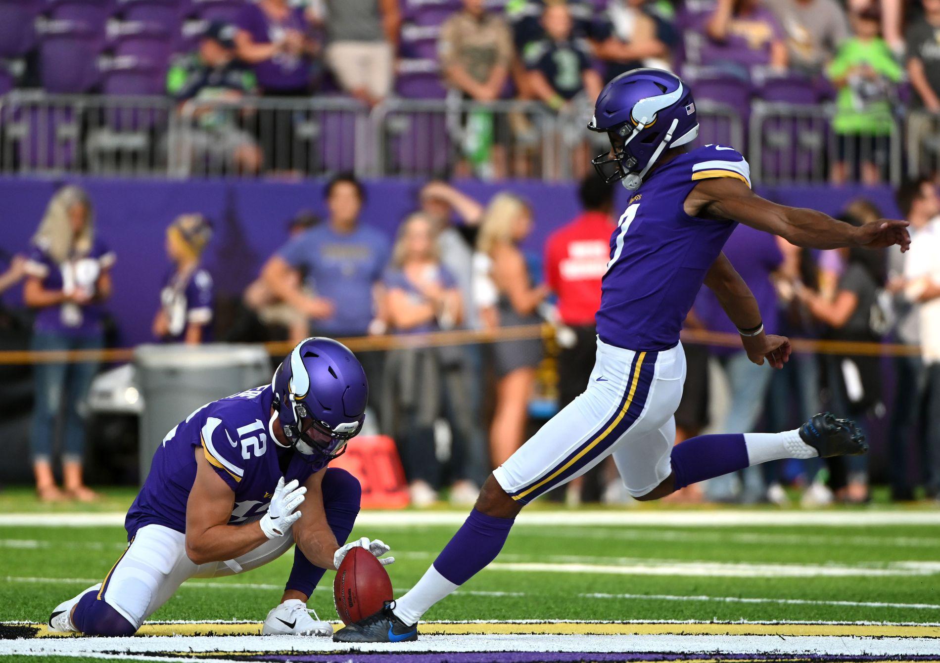 SLET: Vedvik bommet på en av fire forsøk for Minnesota Vikings.