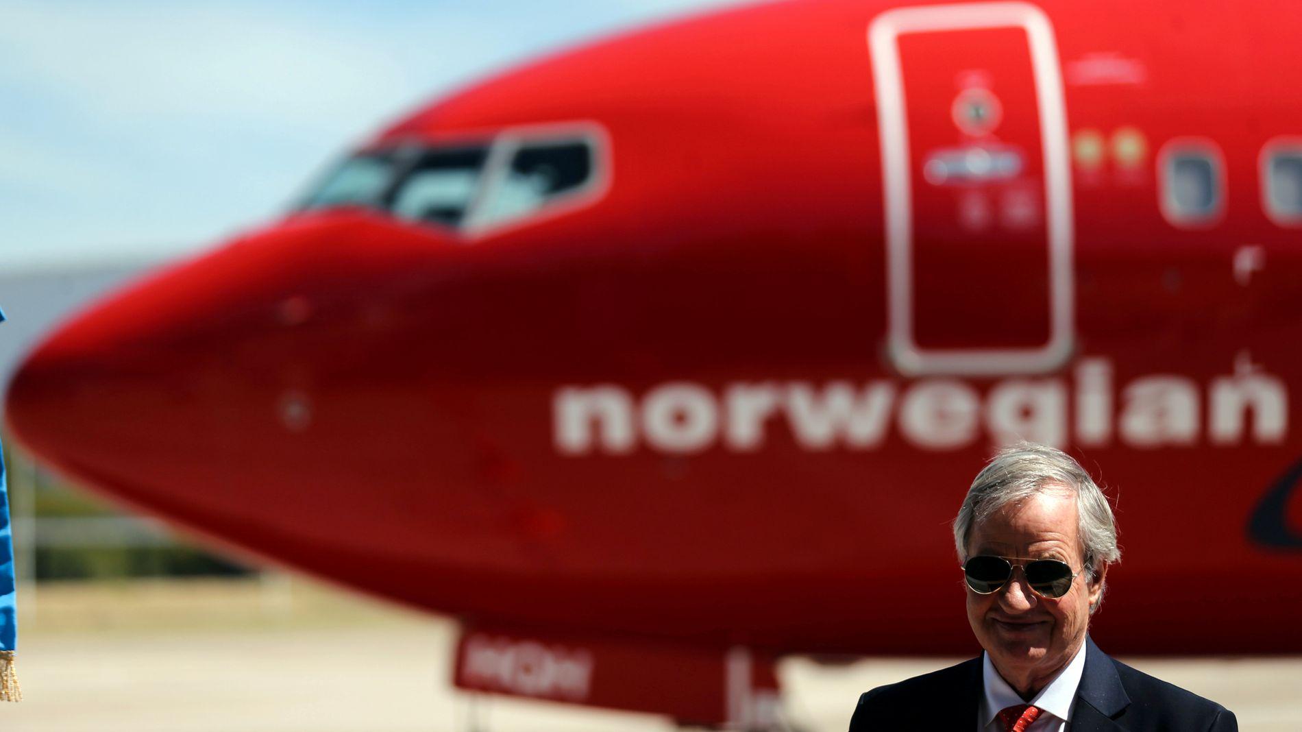 I SOLEN: Norwegian, her ved gründe rog konsernsjef Bjorn Kjos, settes stadig i forbindelse med et IAG-oppkjøp.