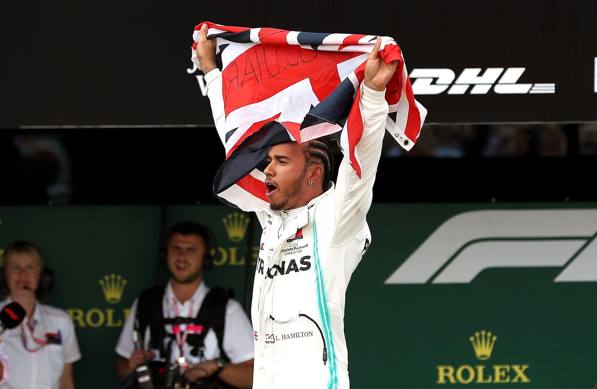 ROCKESTJERNE: Lewis Hamilton er en stor helt i Formel 1-sirkuset og vant foran hjemmesupporterne på Silverstone.