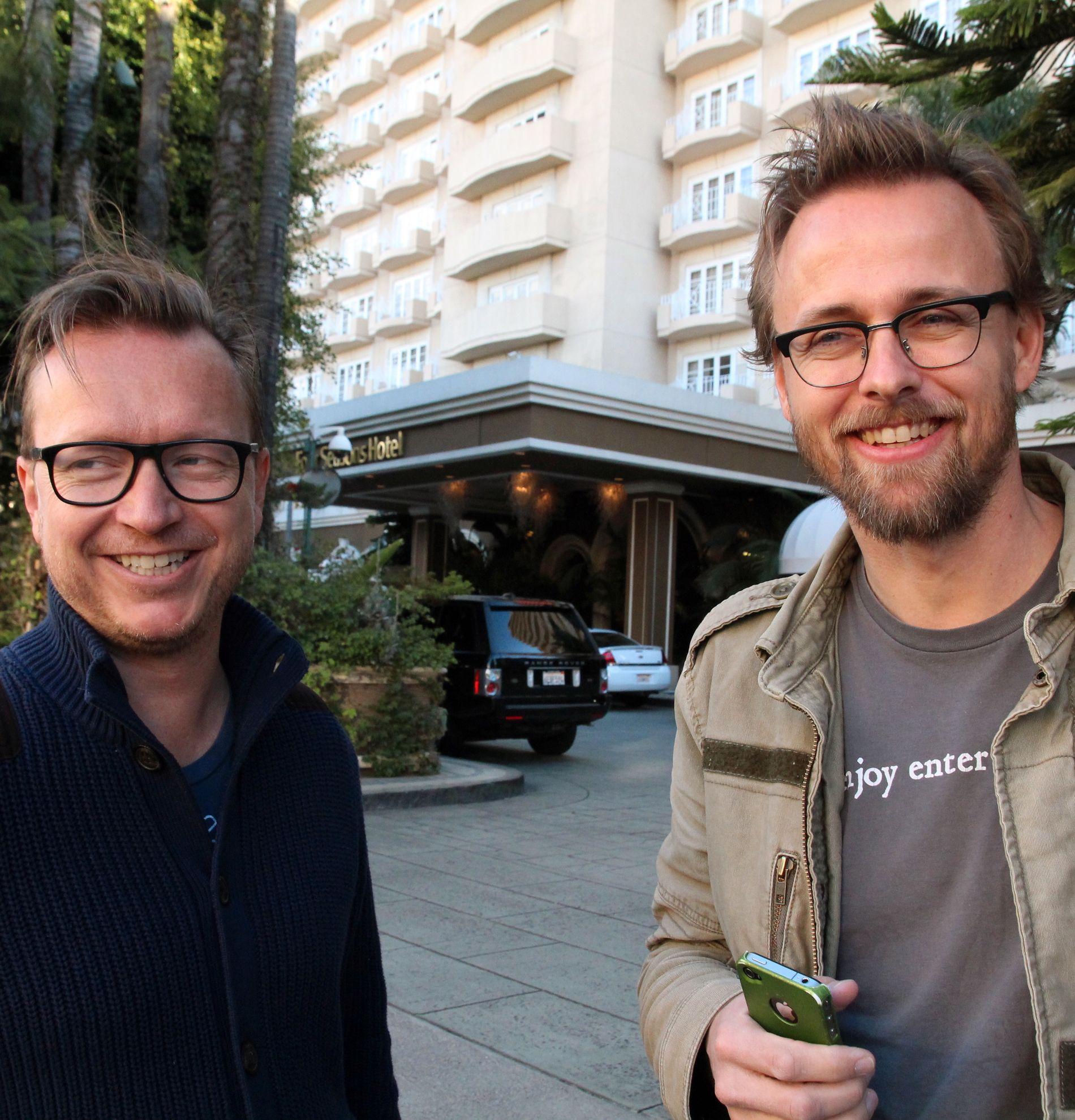 EKS-MAKKERE: Espen Sandberg (t.v.) og Joachim Rønning i L.A. i 2013.