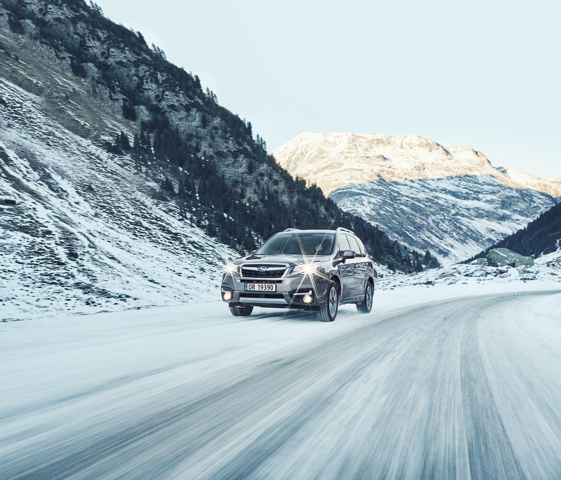 GOD PÅ VINTERFØRE: I den europeiske kollisjonstesten EuroNCAP oppnådde Subaru fem stjerner og en meget høy score for barnesikring.