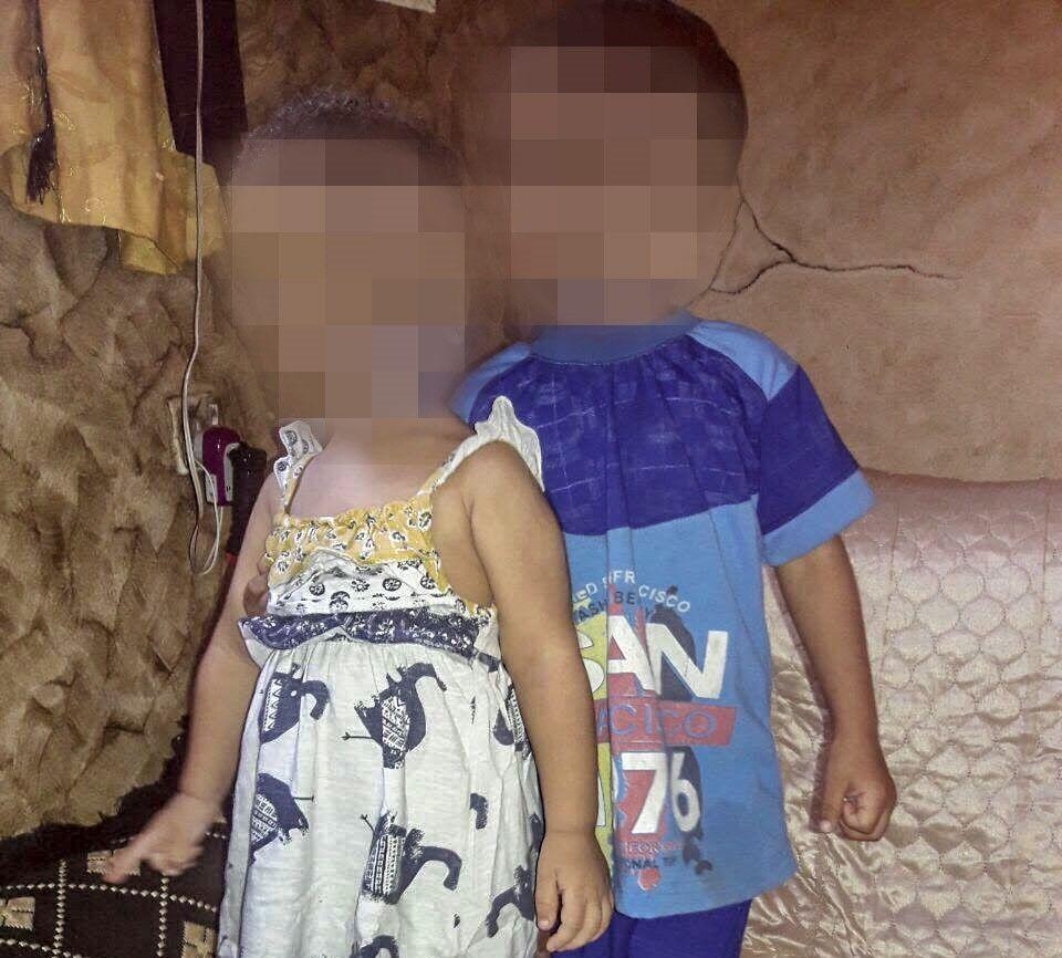I SYRIA: To av de seks barna til norske IS-kvinner som sitter i interneringsleir i Syria: En gutt på fire og en jente på to år.
