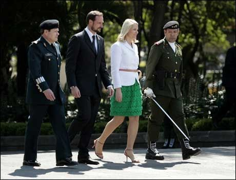 I MEXICO: Kronprins Håkon og Mette-Marit. Foto: Scanpix