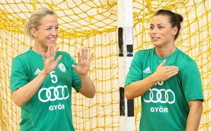 RADARPAR: Heidi Løke og Nora Mørk spiller i samme klubb igjen, men samarbeidet må vente litt. Løke mister seriestarten.