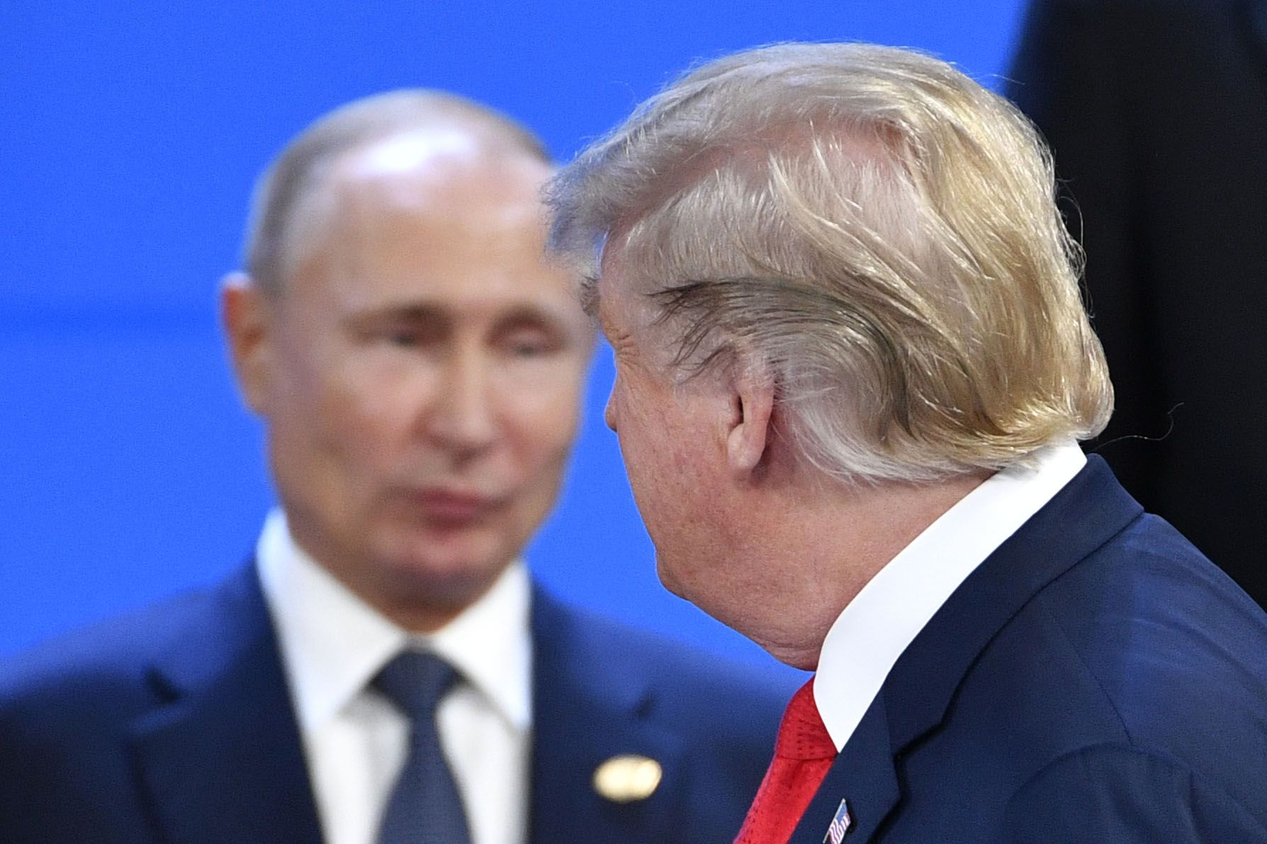 PRESIDENTER: Vladimir Putin og Donald Trump.