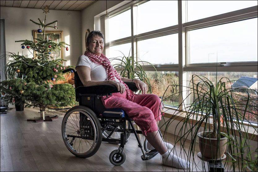 I RULLESTOL: Jane Hoffmann feiret sin siste jul med familien hjemme i Danmark. Foto: Scanpix Denmark
