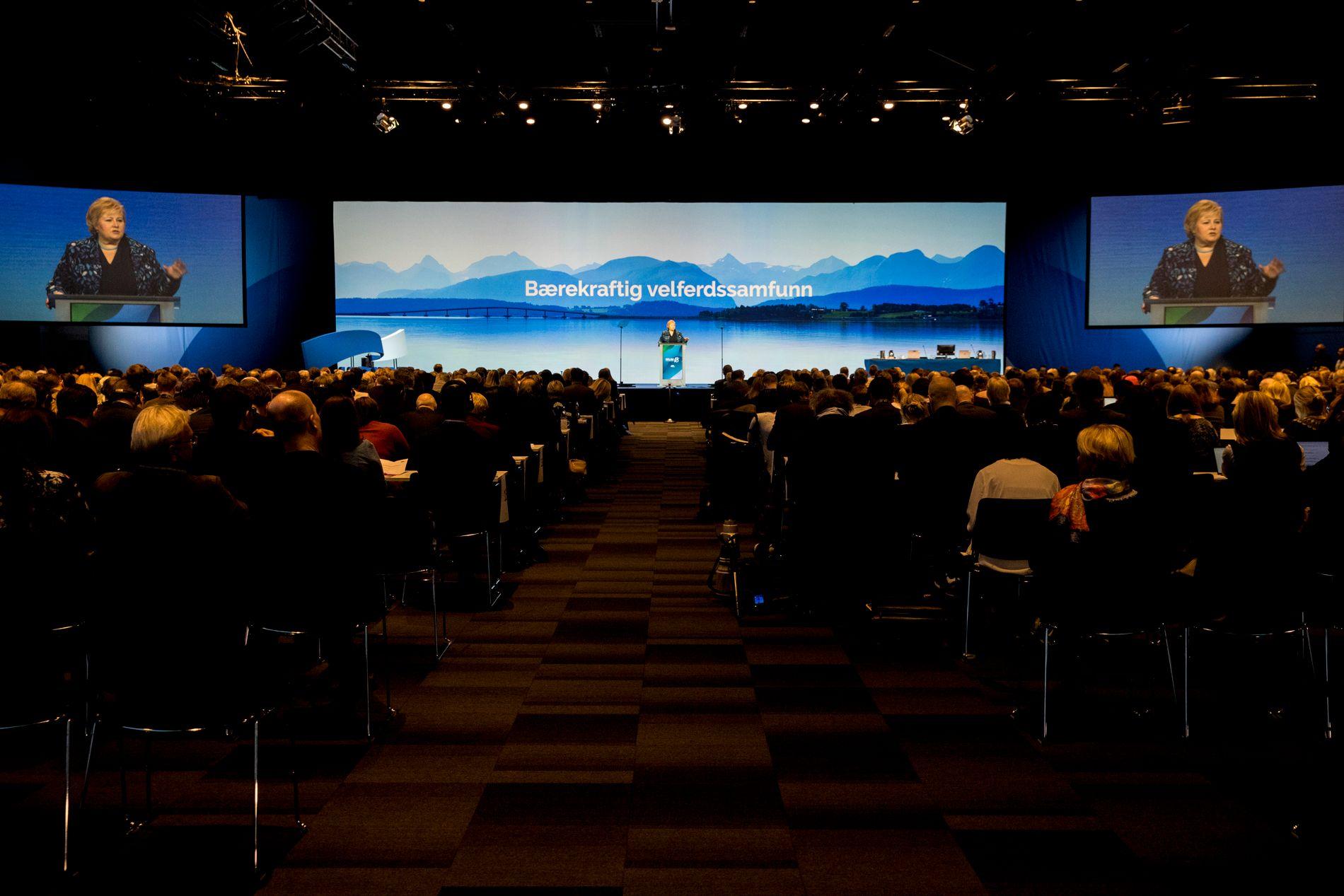 AVSLUTTET: Opp mot 700 mennesker har vært til stede under Høyres landsmøte på Gardermoen i helgen.