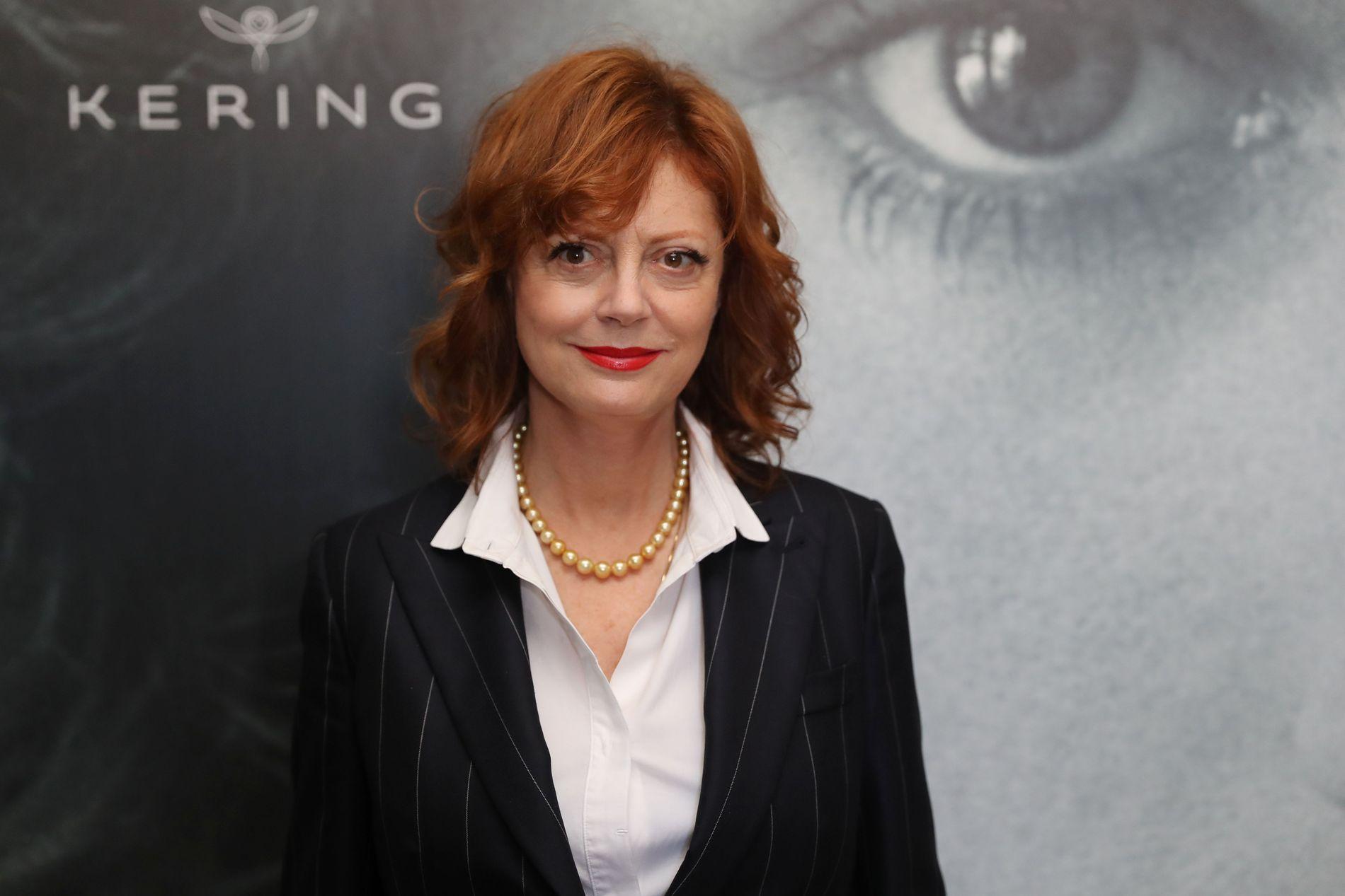 KVINNEROLLER: Susan Sarandon var i Cannes for å snakke om kvinner i film. Her på rød løper 12. mai.