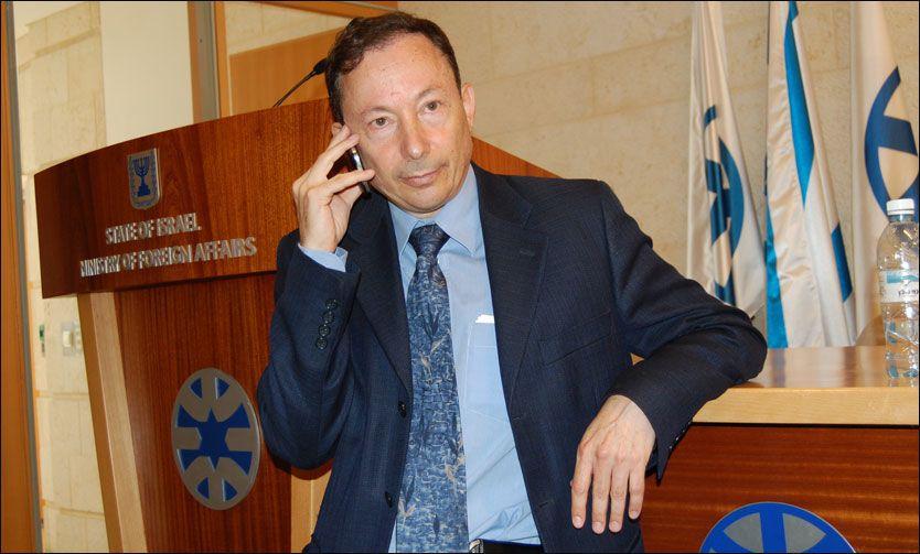 SKUFFET: Talsmann for israelsk UD, Yigal Palmor, mener Norges støtte til palestinerne i FN, setter Norge i et dårlig lys. Foto: ERLEND SKEVIK