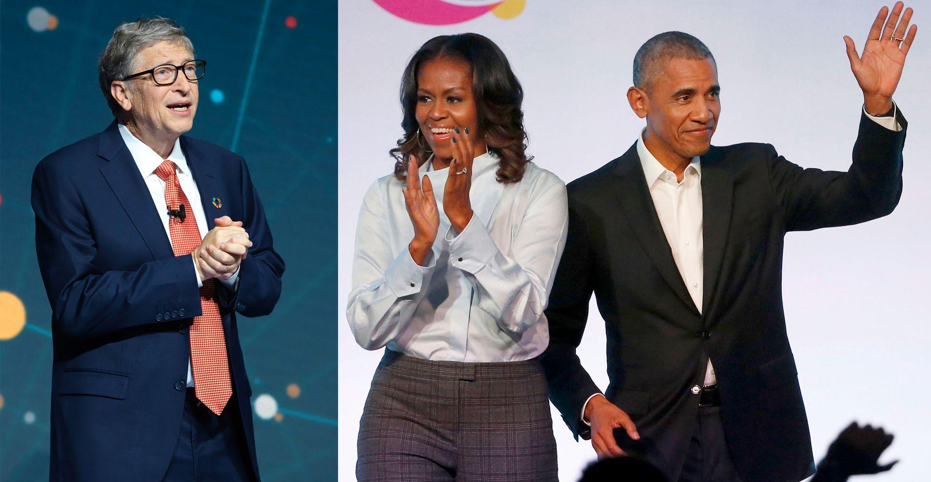 POPULÆRE: Bill Gates, Michelle og Barack Obama er de tre personene vi beundrer mest.