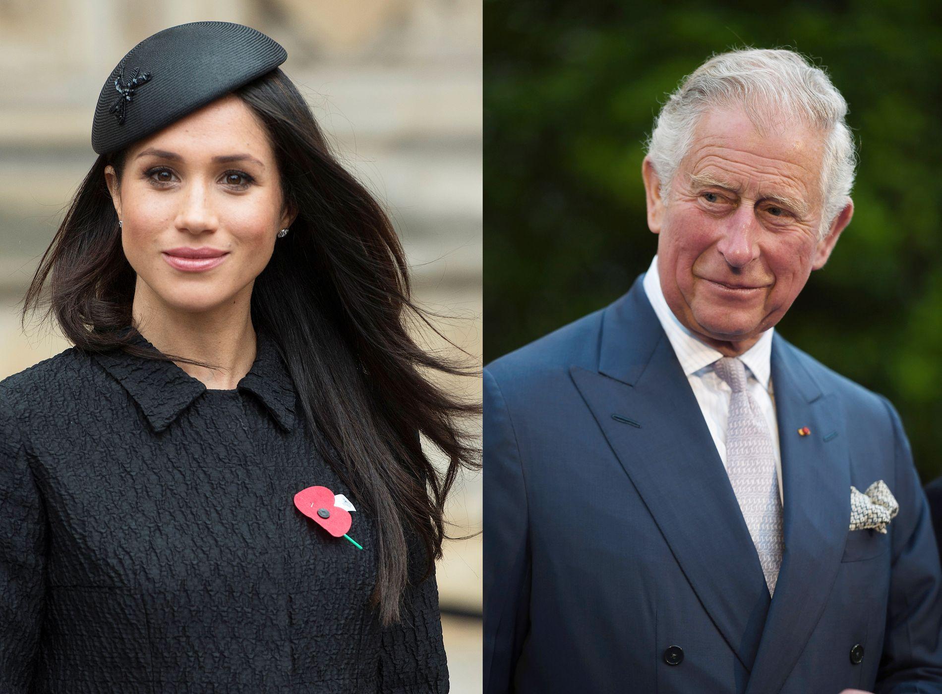 SAMMEN TIL HARRY: Meghan Markle og prins Charles.