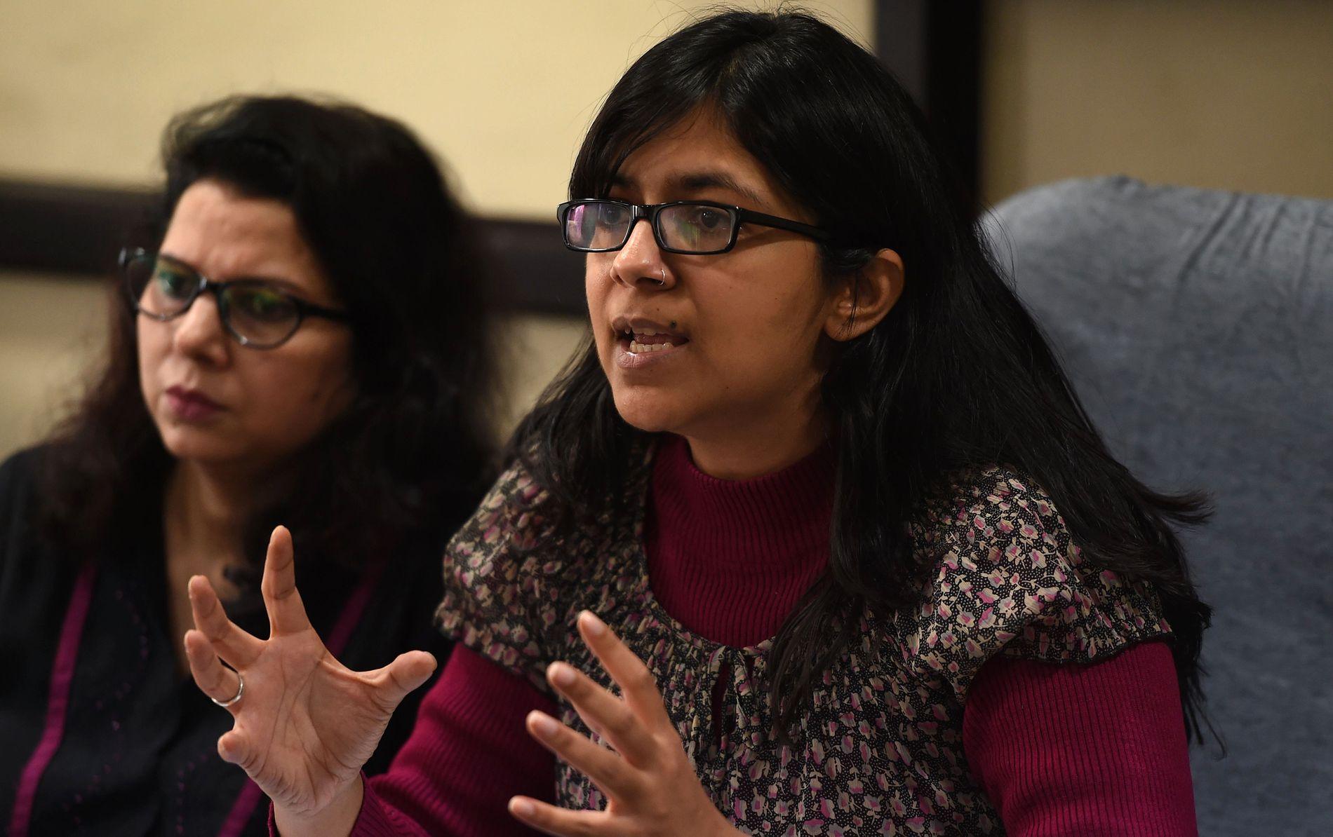 MANER TIL HANDLING: Leder for Delhis kvinnekommisjon, Swati Maliwal, krever strengere lover og flere politiressurser.