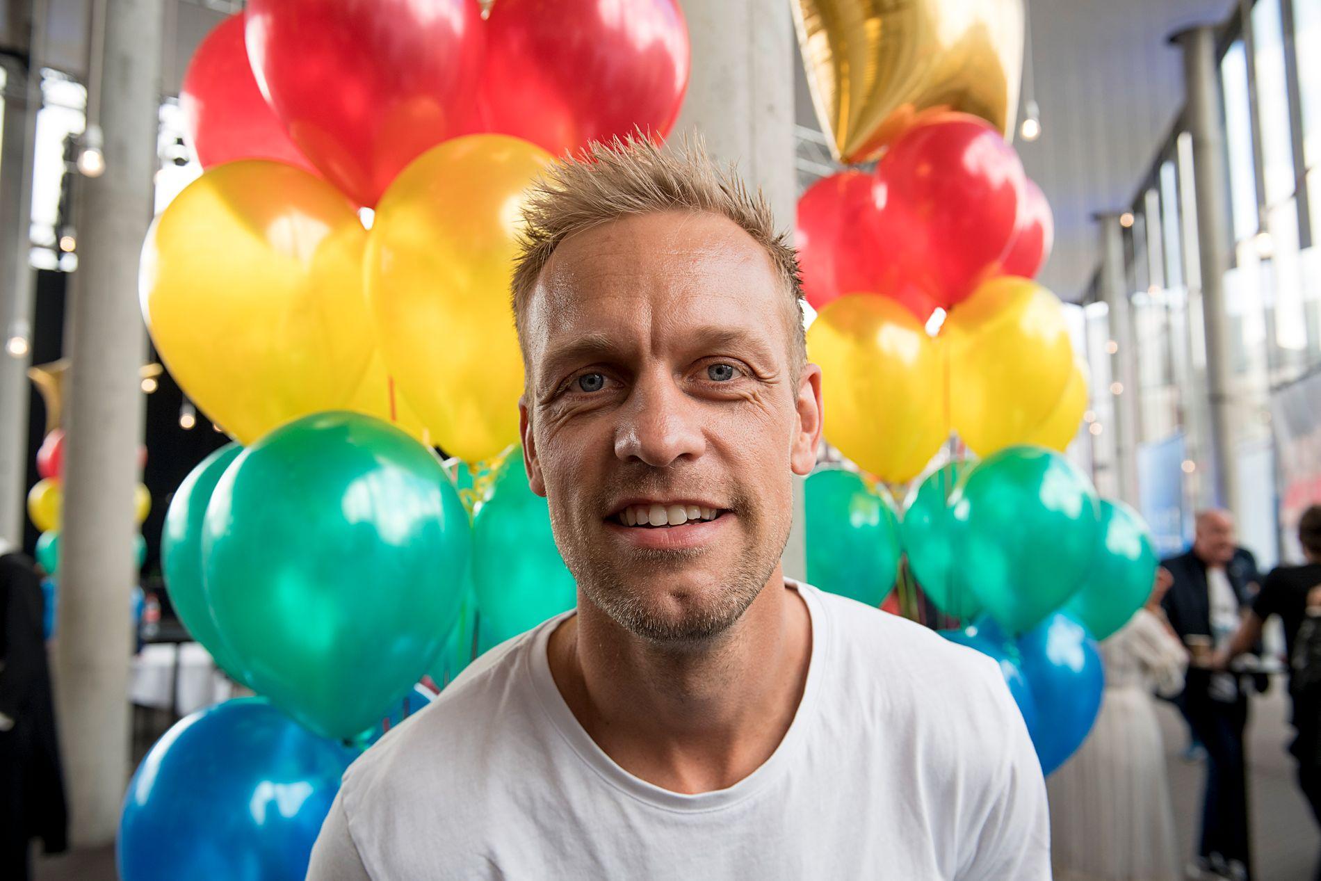 TIL TV 2: Mads Hansen, her på TV 2s høstlansering i Grieghallen torsdag.