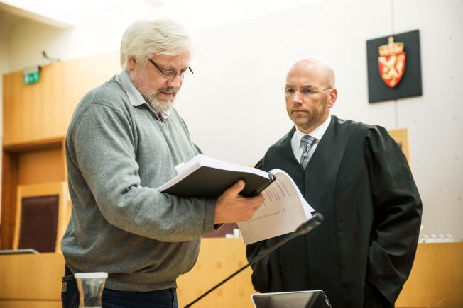 EKSPERT: Islamforsker Lars Gule sammen med Mulla Krekars forsvarer Brynjar Meling i retten mandag.