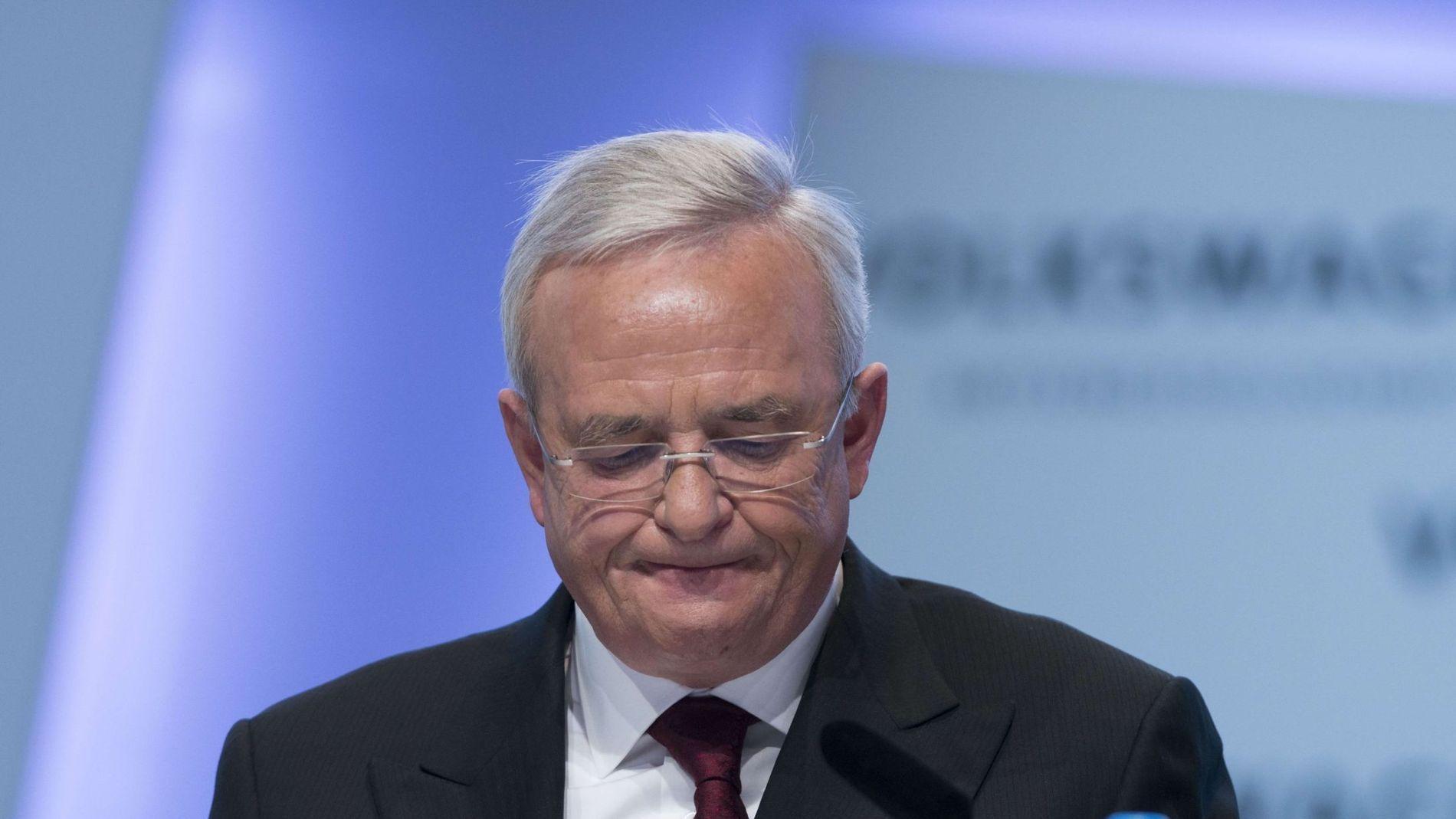 GÅR AV: Martin Winterkorn trekker seg som sjef i Volkswagen.
