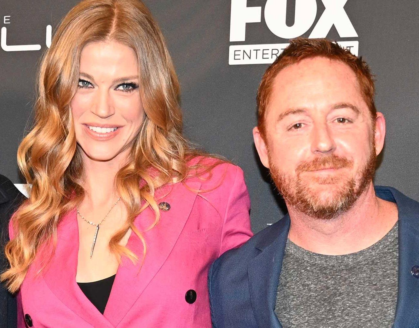 TV-PAR: Adrianne Palicki og Scott Grimes på en «The Orville»-tilstelning i Hollywood i april i år.
