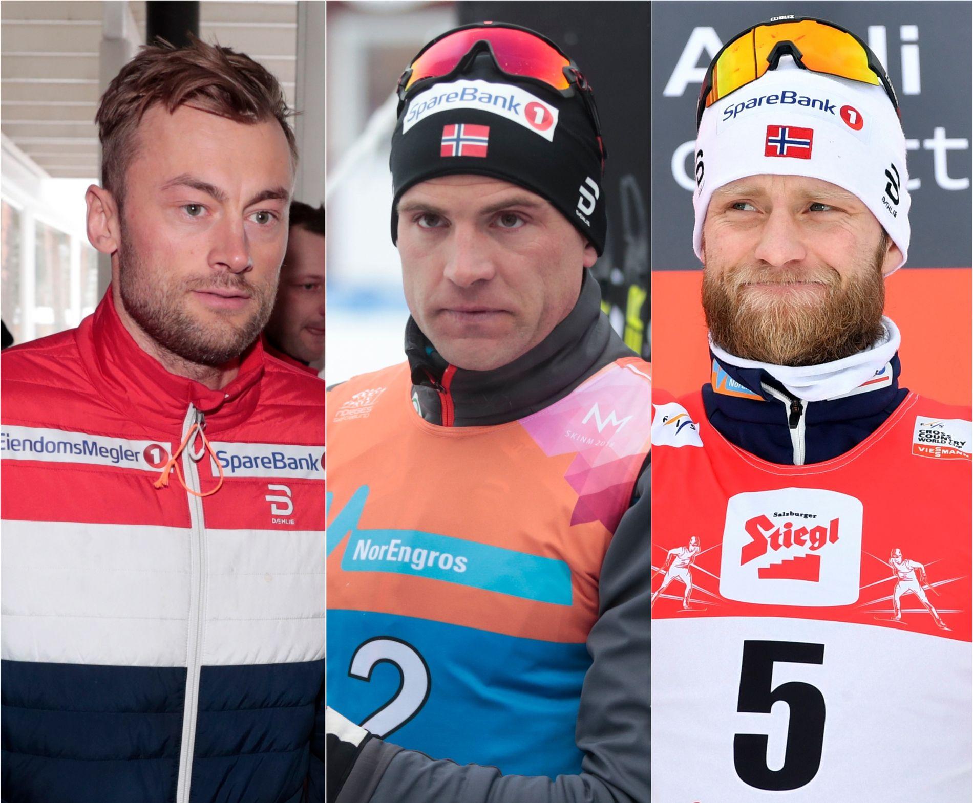 ENDRINGER: Hverken Petter Northug, Niklas Dyrhaug eller Martin Johnsrud Sundby har kunne gjøre treningen helt som planlagt i sommer.