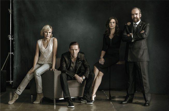 AKTUELL I NY SERIE: Malin Åkerman spiller mot «Homeland-veteran» Damian Lewis, «Sons of Anarchy»-skuespiller Maggie Siff og Oscar-nominerte Paul Giamatti i «Billions».