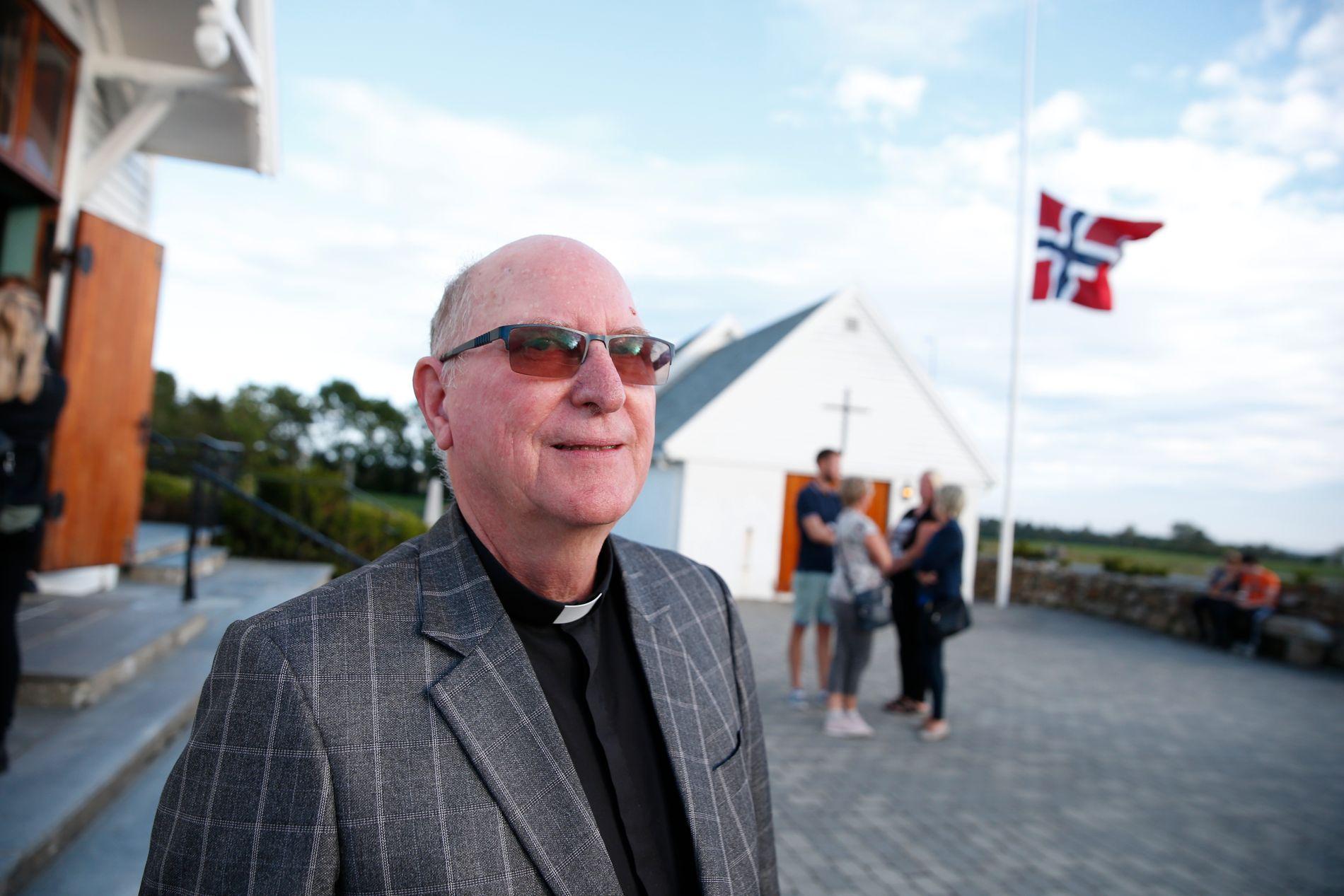 PREST: Gaute Øgreid Rasmussen er prest i Varhaug. Kirken inviterte til informasjonsmøte om drapet på Sunniva Ødegård mandag kveld.