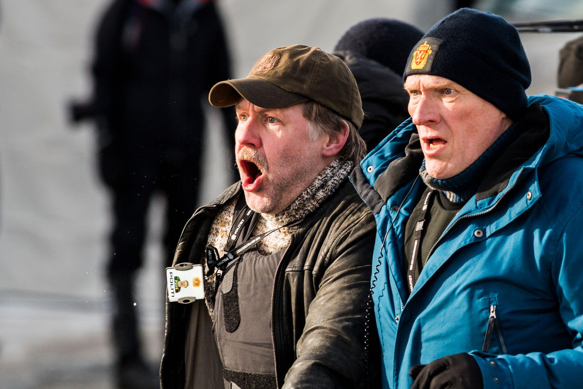 POLITI: Mads Ousdal og Sven Nordin spiller politietterforskere som får en stor sak i hendene.