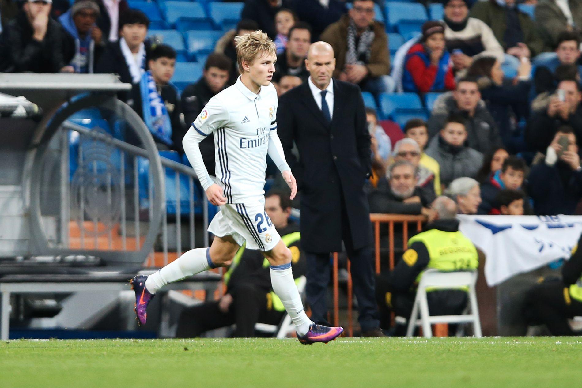 FIKK DEBUTEN: Martin Ødegaard spilte sin første kamp fra start for Real Madrid, den 30. november 2016 mot Cultural Leonesa, med Zinédine Zidane som trener.