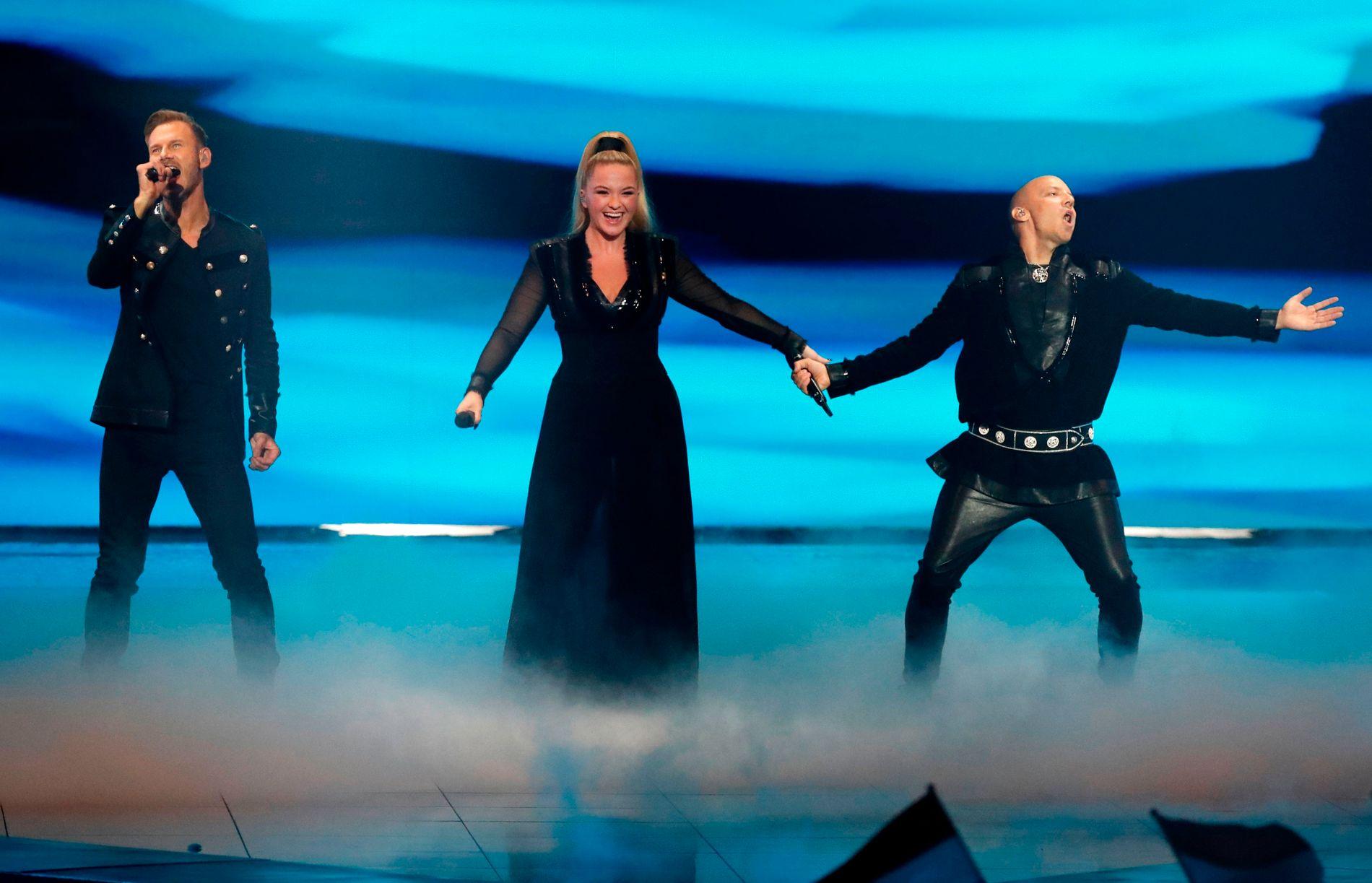 KAMERAFEIL: Noe gikk galt med kameraføringen under juryprøven da KEiiNO opptrådte i Eurovision Song Contest.