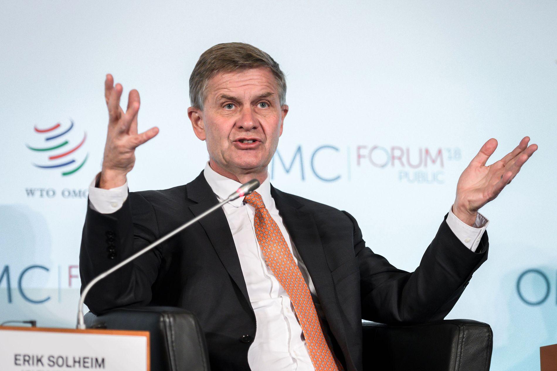 Erik Solheim, her fotografert åpningsdebatten på WTO, 2. oktober i år.