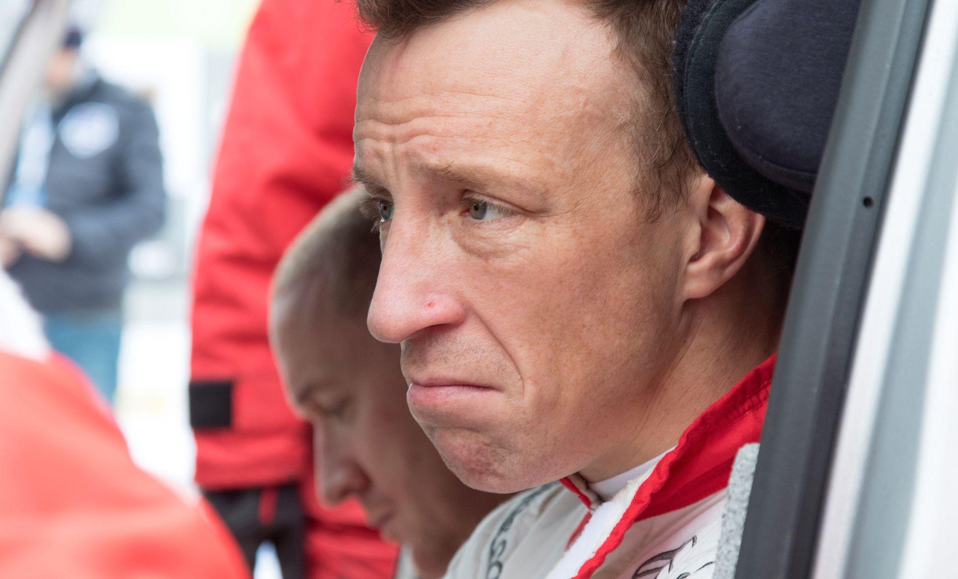 NEDBRUTT: VM-føreren Kris Meeke.