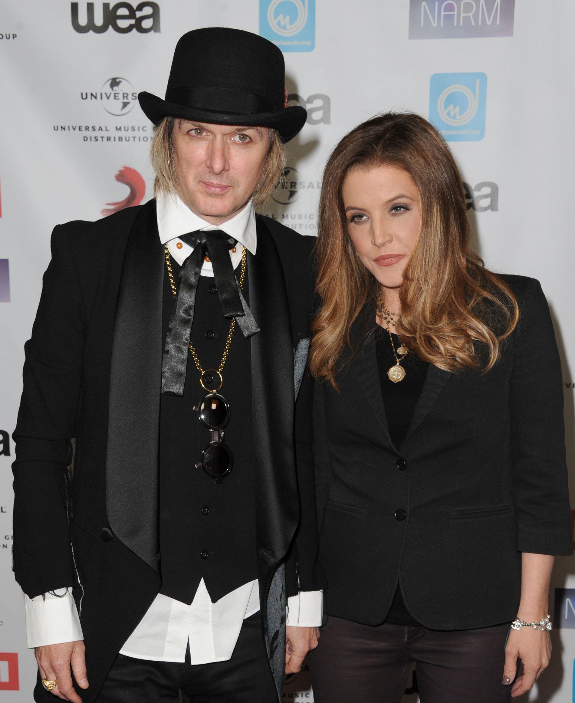 BRUDD: Michael Lockwood og Lisa Marie Presleypå en prisutdeling i 2012.