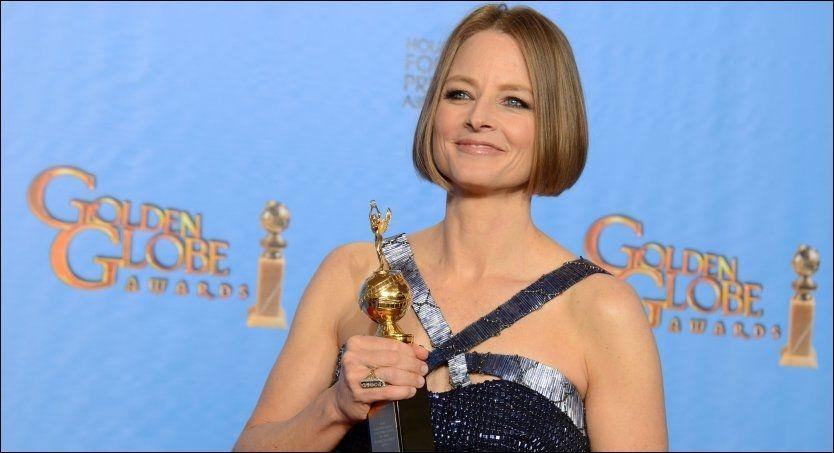 STOLT: Jodie Foster mottok ærespris under Golden Globe-utdelingen på Beverly Hilton Hotelm og leverte en sterk takketale. Foto: AP