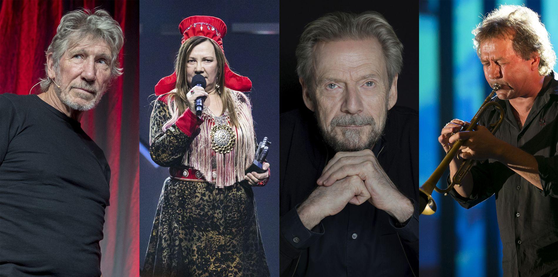 ISRAEL-BOIKOTT: Roger Waters, Mari Boine, Jesper Christensen og Nils Petter Molvær står på listen av artister og filmarbeidere som vil boikotte Eurovision Song Contest i Israel.
