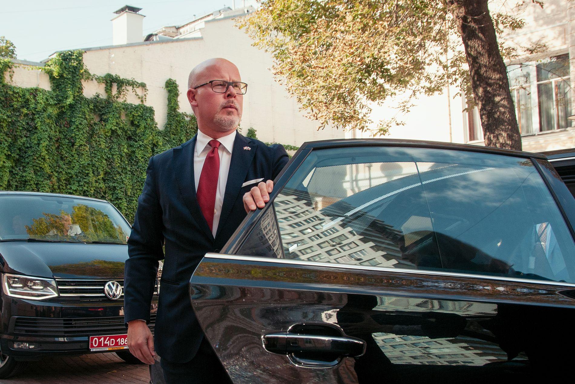 PÅ MØTER I RUSSLAND: Statssekretær Audun Halvorsen har denne uken vært på besøk i Russland.