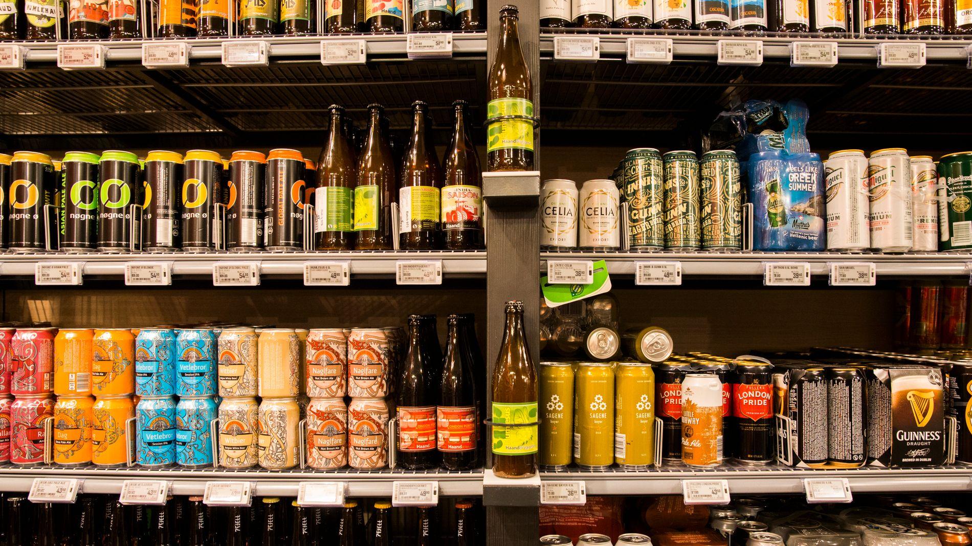 RELATIVT MINDRE AV DETTE: Salget av vanlig øl har også steget de siste årene, men ikke like mye som alkoholfritt.