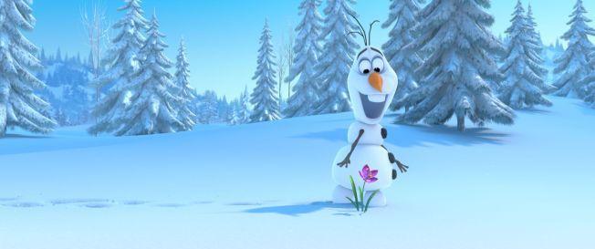 MORO(SNØ)MANN: Olaf er en av filmens store stemningsskapere.