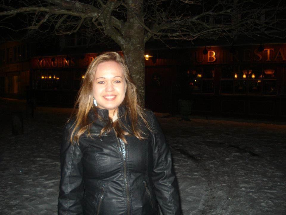 STUDENT I HALDEN: Dette bildet er tatt i mars 2012, da Maren Friberg bodde i Halden og studerte statsvitenskap ved Høgskolen i Østfold.