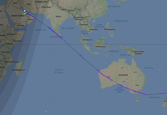 Verdens lengste flyrute åpnet