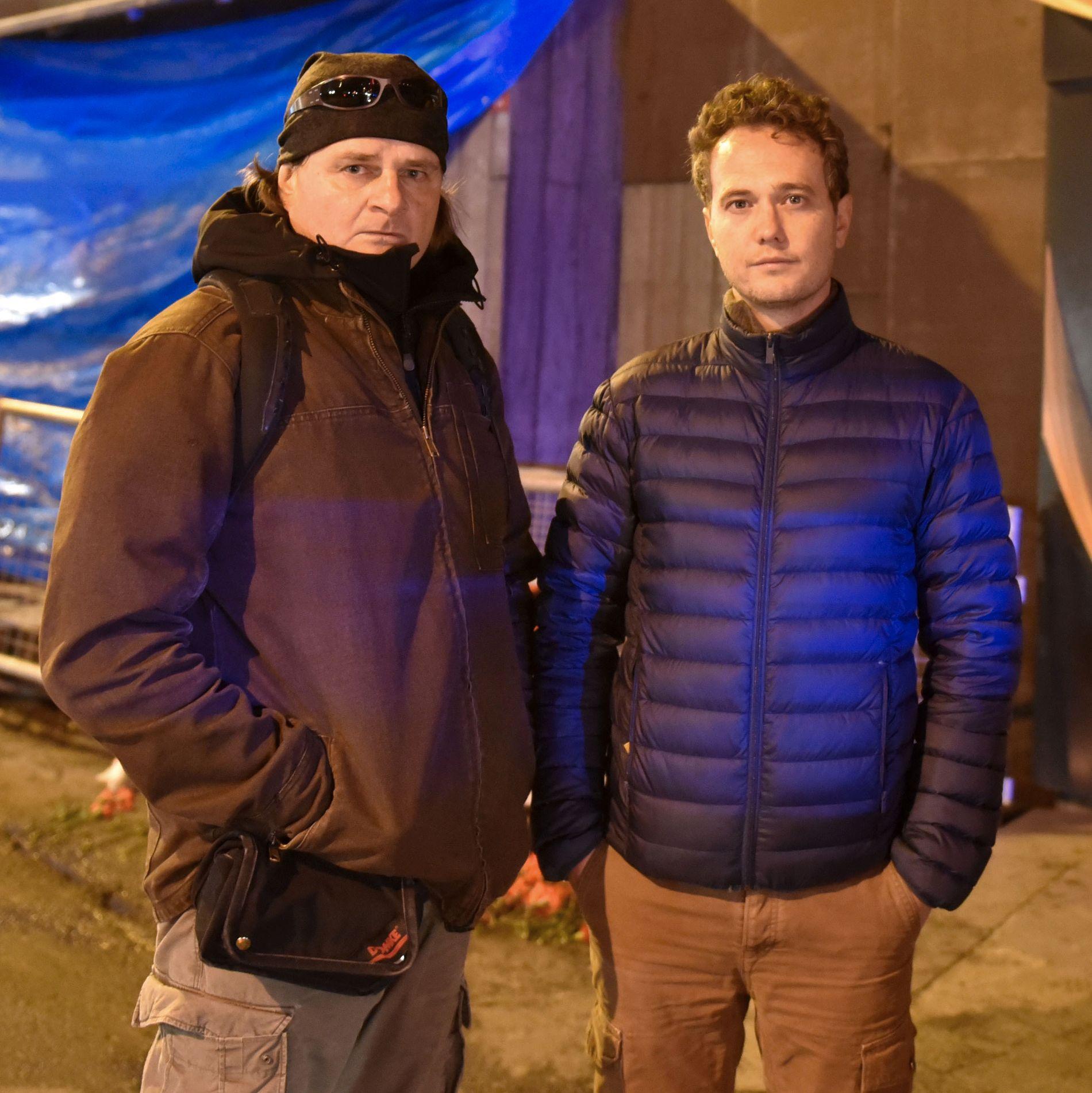 VG I ISTANBUL: Nilas Johnsen og Harald Henden.