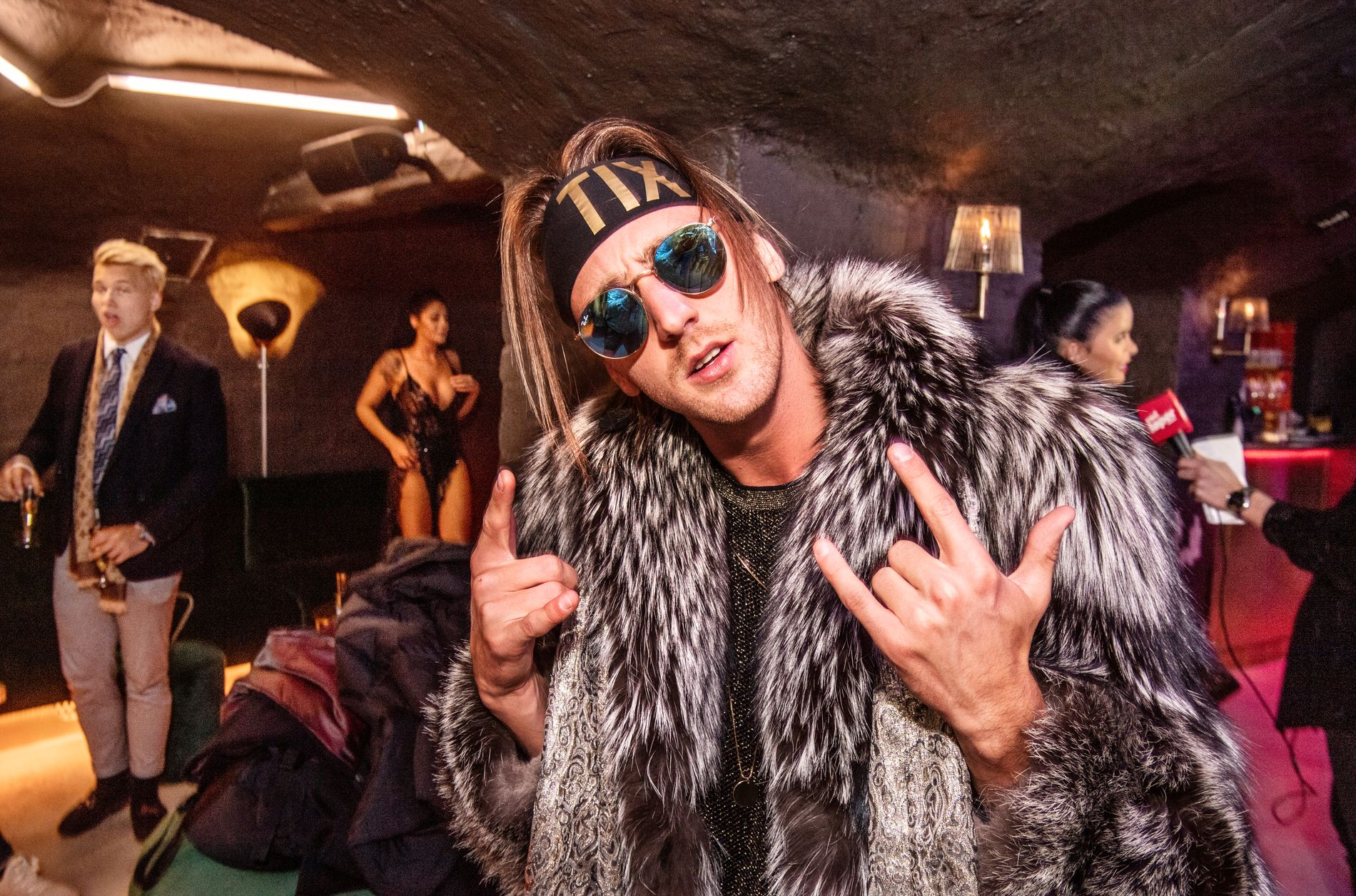 PREMIEREKLAR: Andreas «TIX» Haukeland var en selvsagt gjest på mandagens premierefest.