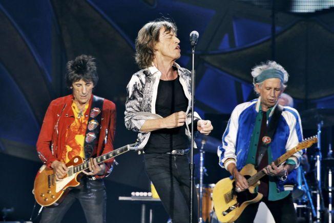 GIR SEG IKKE: Rolling Stones, her på Telenor Arena i Bærum 2014. Fra venstre: Ron Wood, Mick Jagger og Keith Richards. Foto: TROND SOLBERG