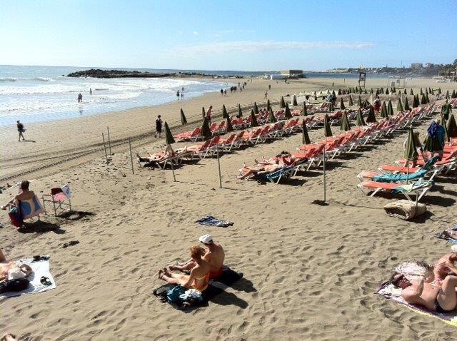 SYDEN: Charterfeber skal spilles inn her på Gran Canaria.