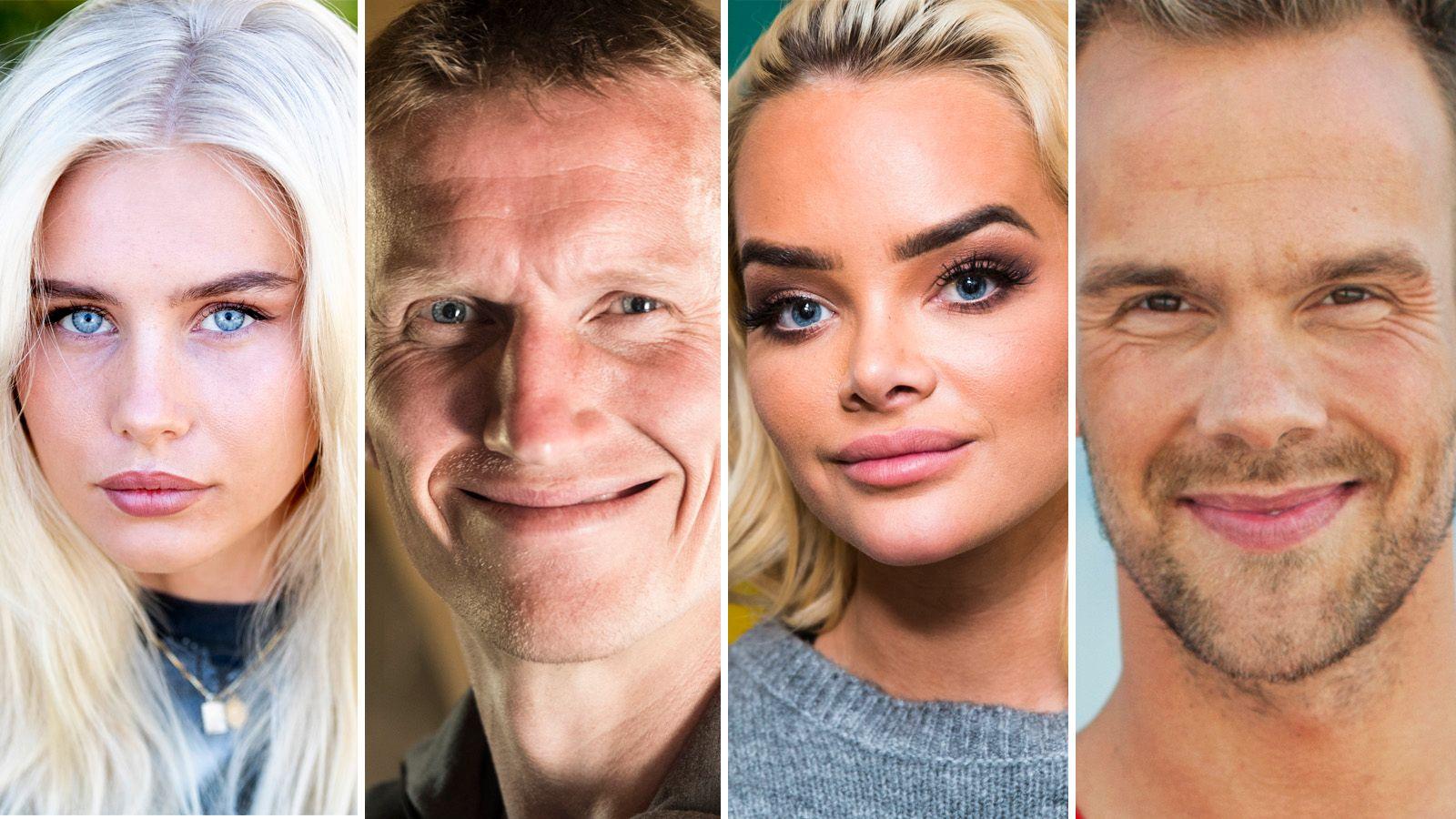 SVINGER SEG: Amalie Snøløs, Frank Løke, Sophie Elise Isachsen og Morten Hegseth Riiber er blant dem som skal være klare for høstens «Skal vi danse».