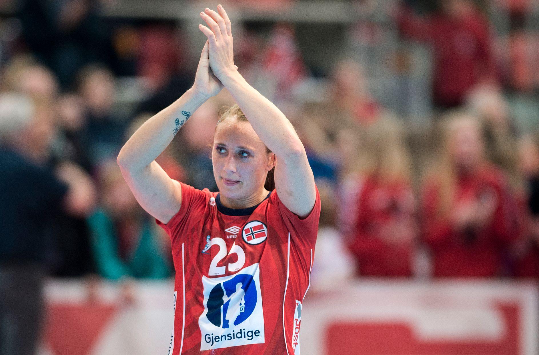 GOD IGJEN: Camilla Herrem var Norges klart beste spiller i tapet for Spania.