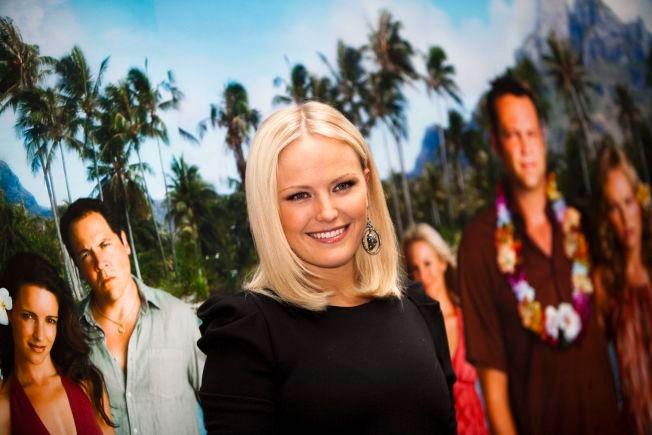 PÅ HJEMMEBANE: Malin Åkerman i Stockholm for å promotere filmen «Couples Retreat» i 2009.