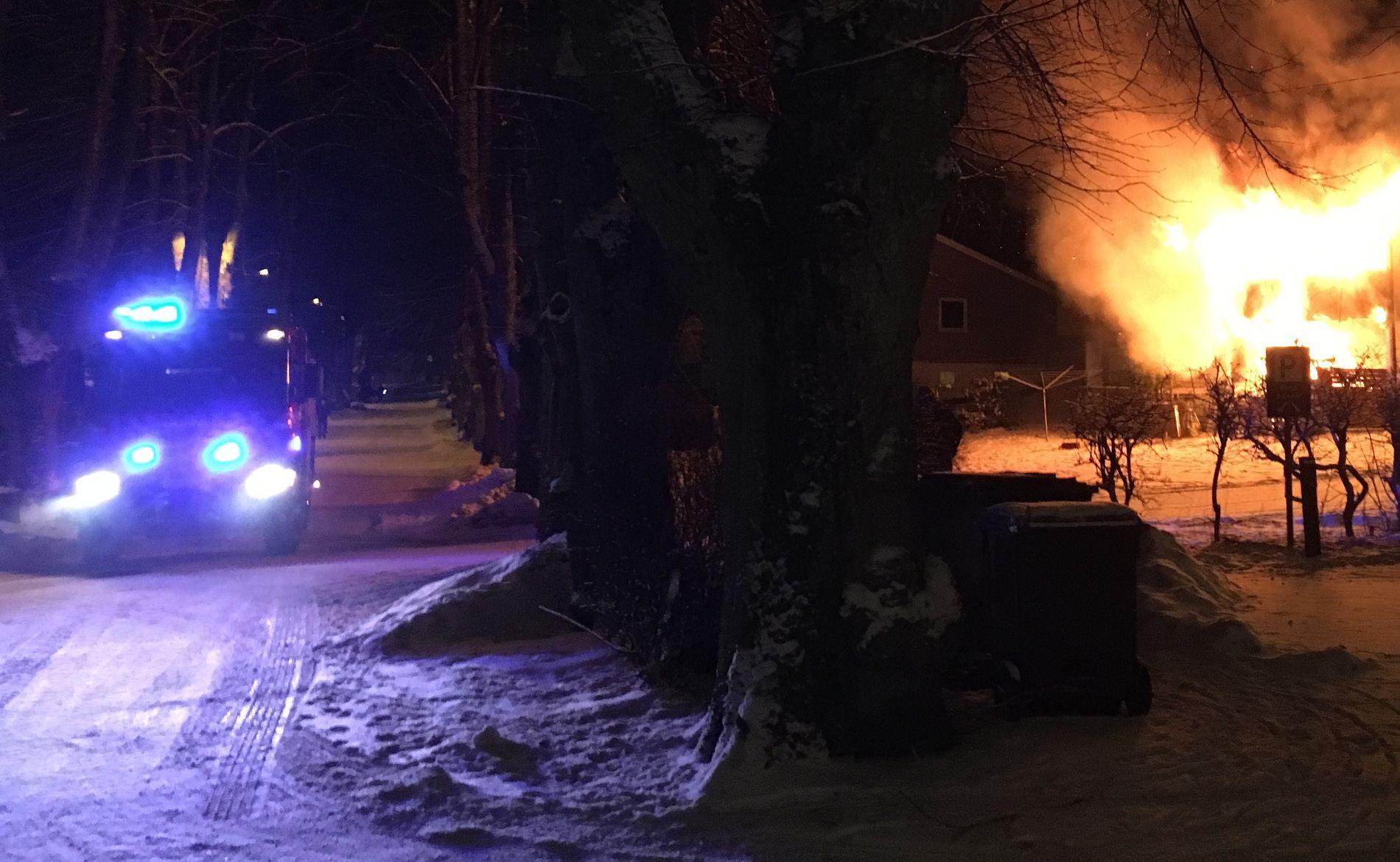 DØDSBRANN: En person er funnet omkommet etter en brann i Moss tirsdag kveld.
