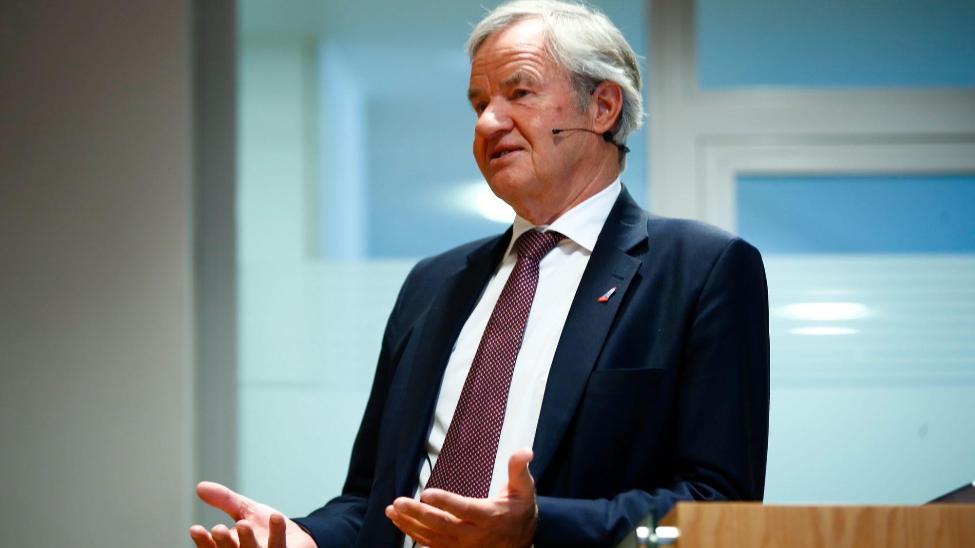 FÅR TOMMELEN OPP: Administrerende direktør Bjørn Kjos i Norwegian la torsdag frem selskapets tall for første kvartal.