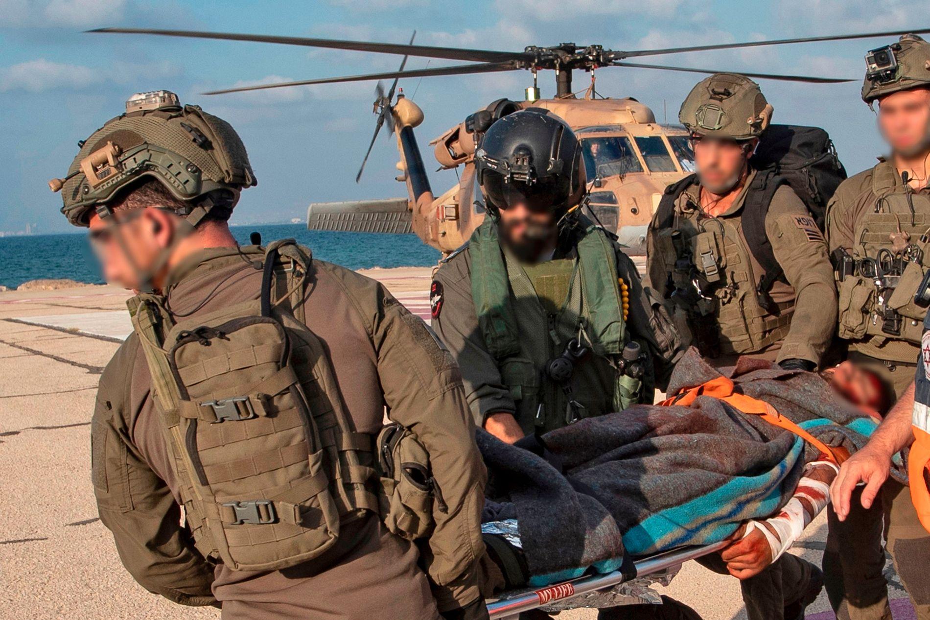 IKKE EKTE: Nok et bilde av den falske evakueringen. Statsminister Benjamin Netanyahu sa kort tid senere at ingen israelere «hadde en skramme».