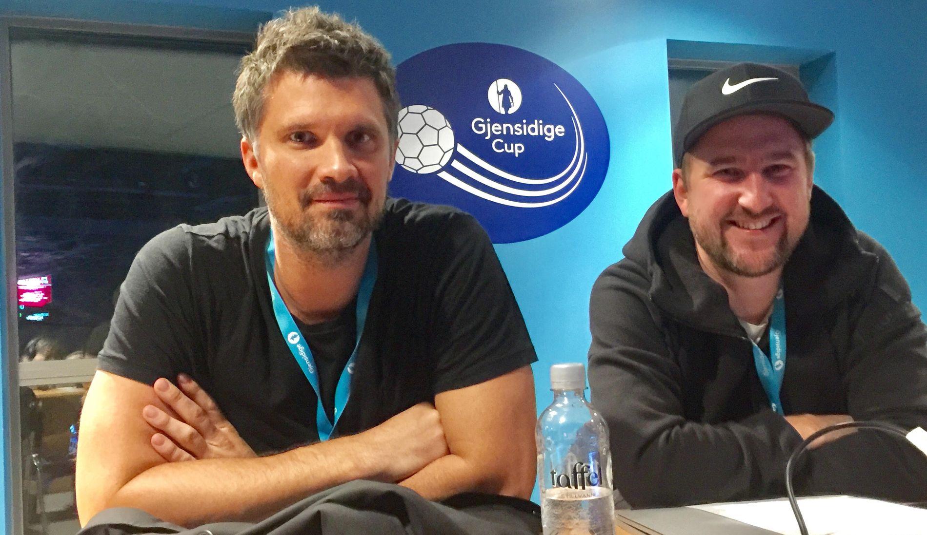 VM-KLARE: Kristian Kjelling (til venstre) og Daniel Høglund er TV 3s kommentatorpar når Norge møter Tunisia i VM-åpningen fredag.