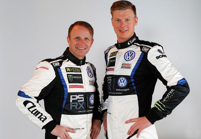 NY DUO: Petter Solberg har fått med seg Johan Kristoffersson (t.h.) i det nye teamet, som har VW Motorsport i ryggen.