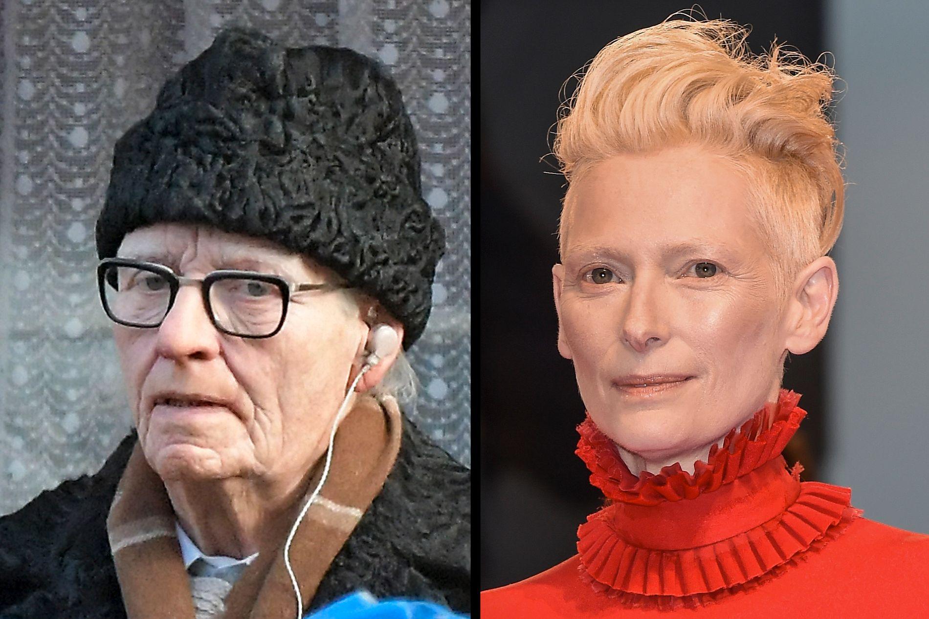 MEN ER DET IKKE? Lutz Ebersdorf og Tilda Swinton. Eller Tilda Swinton og Tilda Swinton? Ingen endelige svar er gitt.
