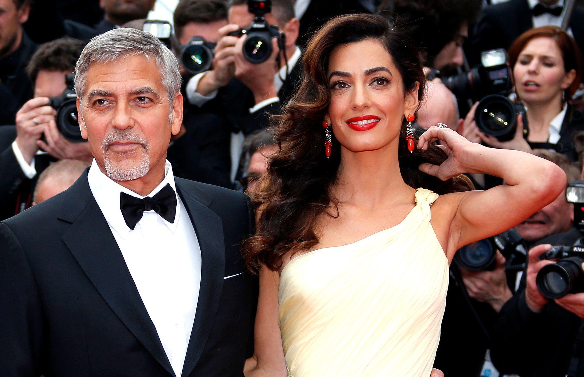 TVILLINGFORELDRE: George og Amal Clooney fikk i juni tvillinger.